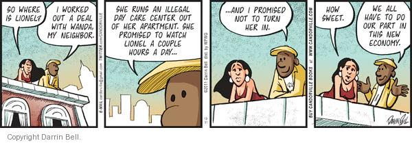 Comic Strip Darrin Bell  Candorville 2011-12-31 babysitter