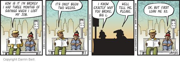 Comic Strip Darrin Bell  Candorville 2012-01-03 two weeks