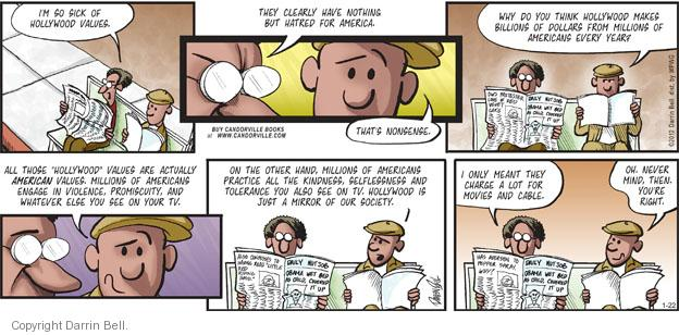 Comic Strip Darrin Bell  Candorville 2012-01-22 movie violence