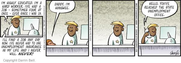 Comic Strip Darrin Bell  Candorville 2012-01-11 personal finance