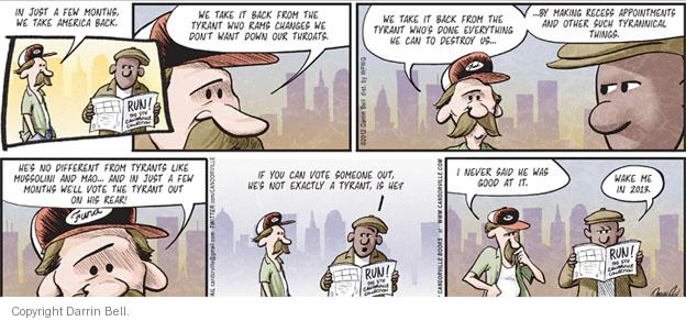 Comic Strip Darrin Bell  Candorville 2012-01-29 presidential appointment