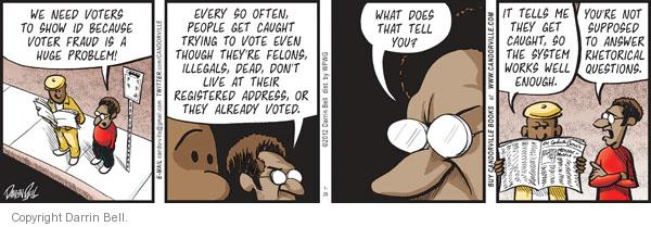 Comic Strip Darrin Bell  Candorville 2012-01-26 voter identification