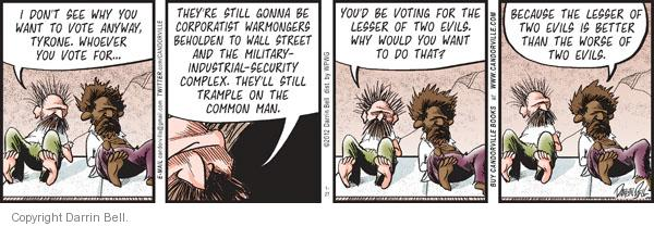 Comic Strip Darrin Bell  Candorville 2012-01-27 election