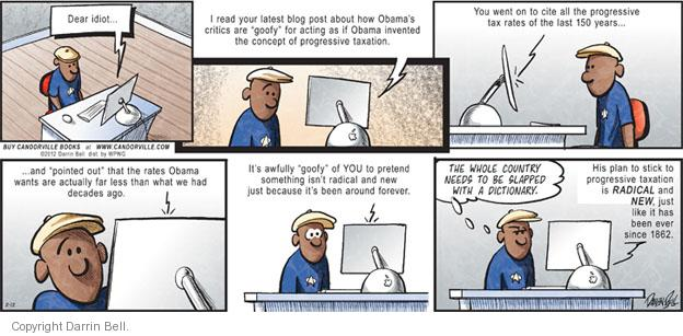 Comic Strip Darrin Bell  Candorville 2012-02-12 blogger