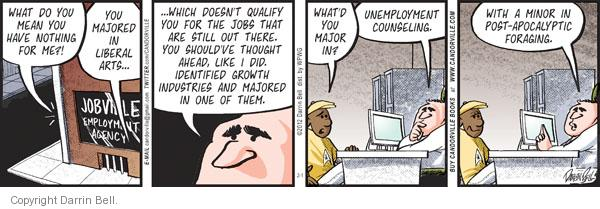 Comic Strip Darrin Bell  Candorville 2012-02-01 economy and job