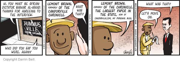 Comic Strip Darrin Bell  Candorville 2012-02-14 chronicle