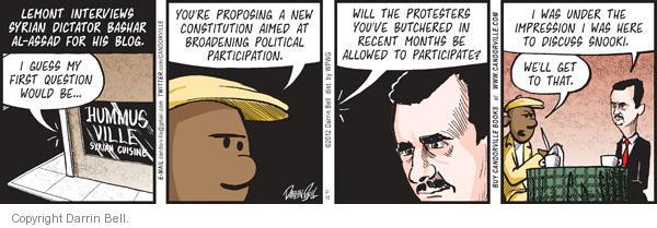 Comic Strip Darrin Bell  Candorville 2012-02-15 deception