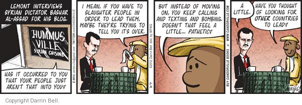 Comic Strip Darrin Bell  Candorville 2012-02-16 call