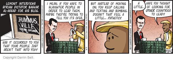 Cartoonist Darrin Bell  Candorville 2012-02-16 human rights