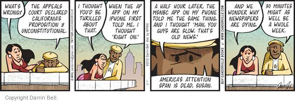 Comic Strip Darrin Bell  Candorville 2012-02-18 Associated Press