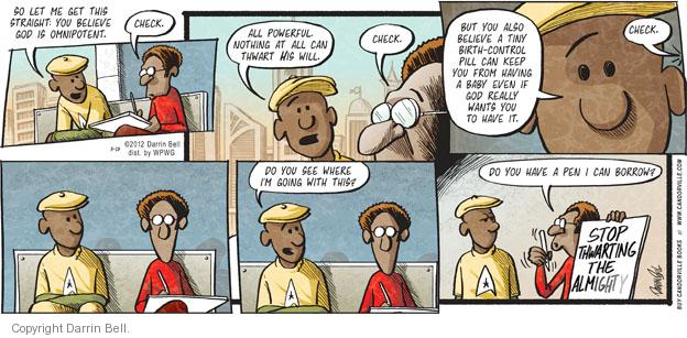 Comic Strip Darrin Bell  Candorville 2012-03-18 birth control