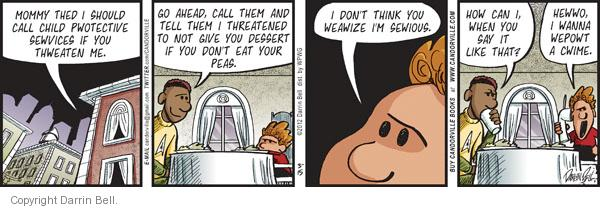 Comic Strip Darrin Bell  Candorville 2012-03-15 eat