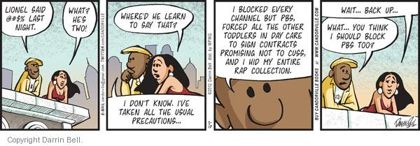 Comic Strip Darrin Bell  Candorville 2012-03-17 usual