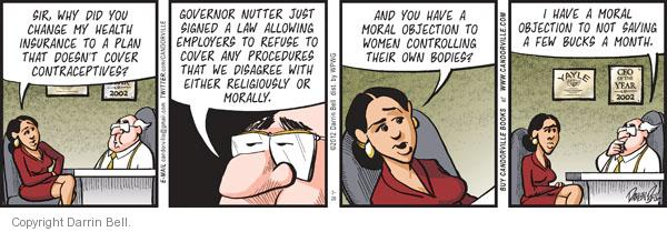Comic Strip Darrin Bell  Candorville 2012-03-20 birth control