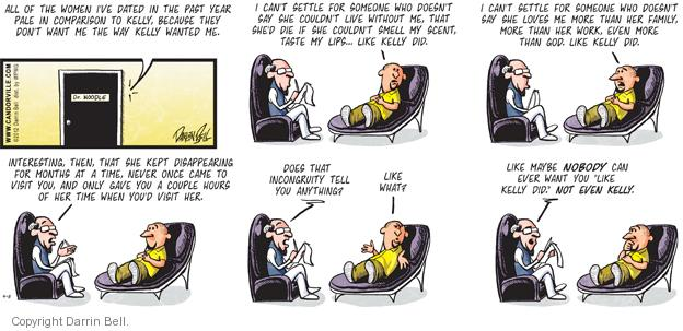 Cartoonist Darrin Bell  Candorville 2012-04-08 therapist