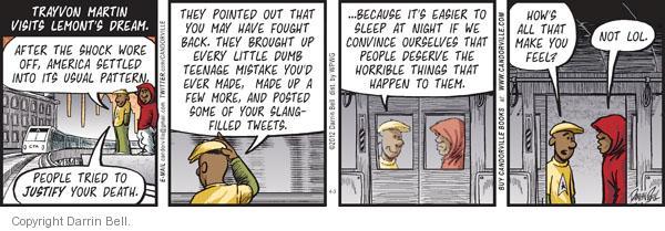 Cartoonist Darrin Bell  Candorville 2012-04-03 teenage