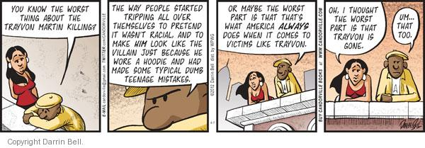 Cartoonist Darrin Bell  Candorville 2012-04-07 teenage
