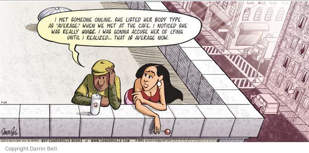 Comic Strip Darrin Bell  Candorville 2012-04-22 overweight