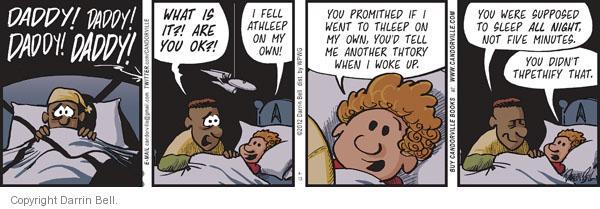 Comic Strip Darrin Bell  Candorville 2012-04-13 nighttime