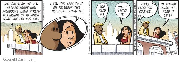 Comic Strip Darrin Bell  Candorville 2012-04-18 friend