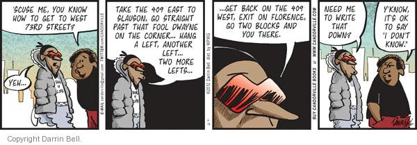 Comic Strip Darrin Bell  Candorville 2012-04-19 exit