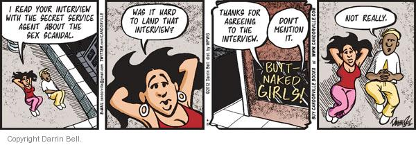 Cartoonist Darrin Bell  Candorville 2012-04-23 read