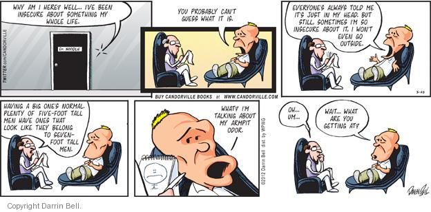 Comic Strip Darrin Bell  Candorville 2012-05-12 insecure