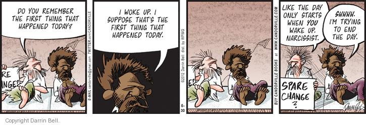Comic Strip Darrin Bell  Candorville 2012-05-30 woke
