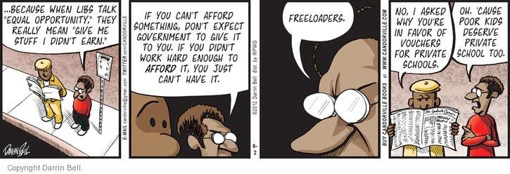 Comic Strip Darrin Bell  Candorville 2012-06-02 freeloader