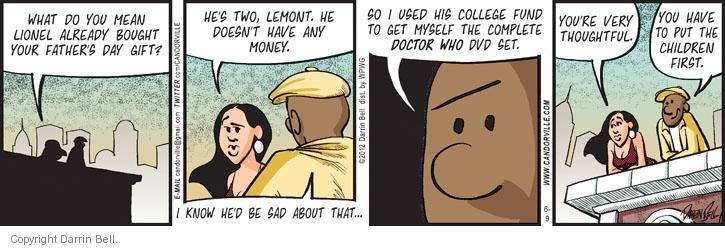 Cartoonist Darrin Bell  Candorville 2012-06-09 doctor