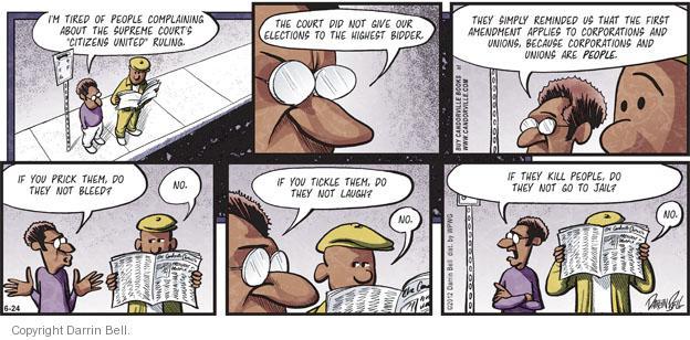 Comic Strip Darrin Bell  Candorville 2012-06-24 first amendment