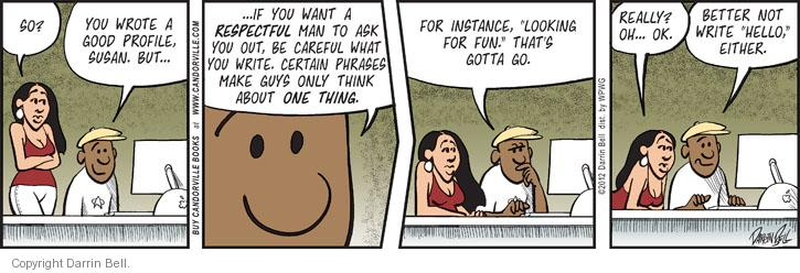 Cartoonist Darrin Bell  Candorville 2012-06-22 careful