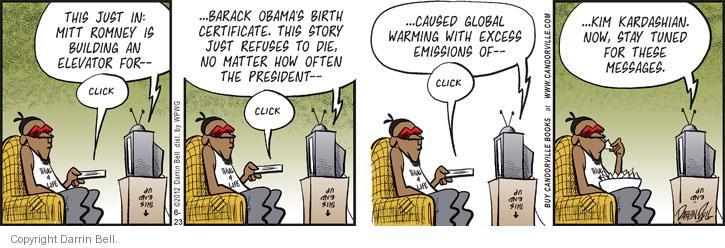 Cartoonist Darrin Bell  Candorville 2012-06-23 global warming