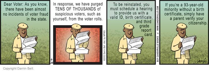 Comic Strip Darrin Bell  Candorville 2012-06-29 voter identification
