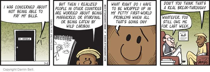Comic Strip Darrin Bell  Candorville 2012-07-02 petty