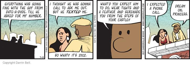 Comic Strip Darrin Bell  Candorville 2012-07-03 feather