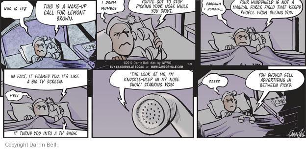 Comic Strip Darrin Bell  Candorville 2012-07-22 TV screen