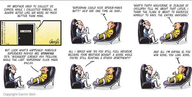 Comic Strip Darrin Bell  Candorville 2012-07-29 superhero