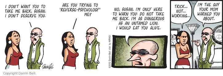 Comic Strip Darrin Bell  Candorville 2012-07-18 bad guy