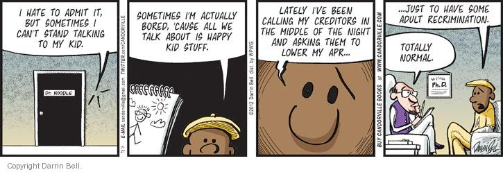 Comic Strip Darrin Bell  Candorville 2012-07-27 middle of the night