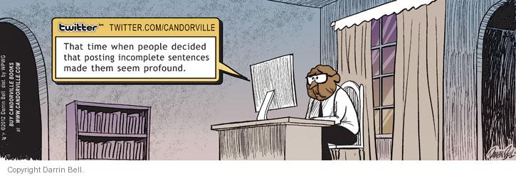 Comic Strip Darrin Bell  Candorville 2012-07-28 post