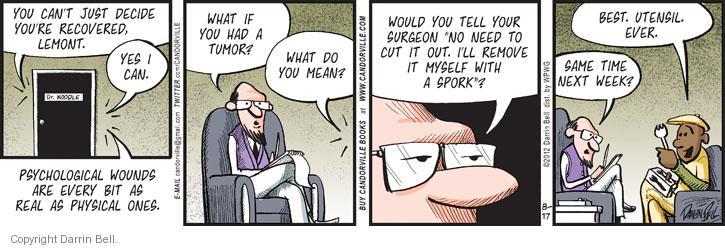 Comic Strip Darrin Bell  Candorville 2012-08-17 psychology
