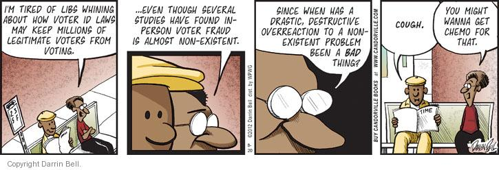 Comic Strip Darrin Bell  Candorville 2012-08-20 voter identification