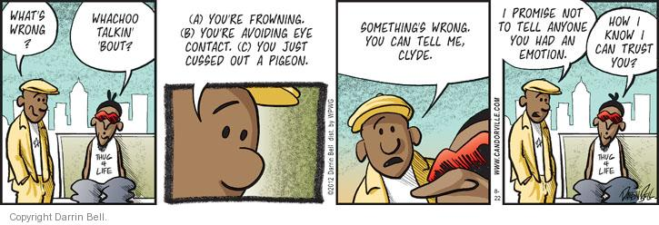 Comic Strip Darrin Bell  Candorville 2012-08-22 something