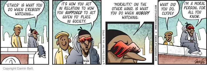 Comic Strip Darrin Bell  Candorville 2012-08-24 unethical