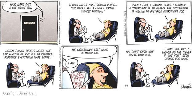 Cartoonist Darrin Bell  Candorville 2012-09-02 therapist