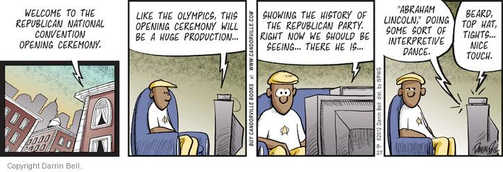 Comic Strip Darrin Bell  Candorville 2012-08-27 Olympics