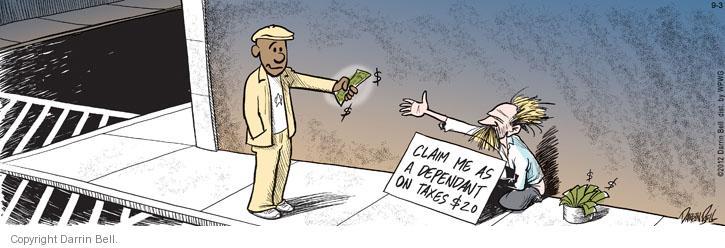 Comic Strip Darrin Bell  Candorville 2012-09-03 tax
