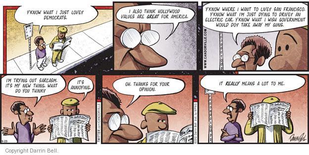 Comic Strip Darrin Bell  Candorville 2012-09-23 values