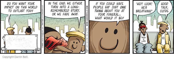 Comic Strip Darrin Bell  Candorville 2012-09-18 die